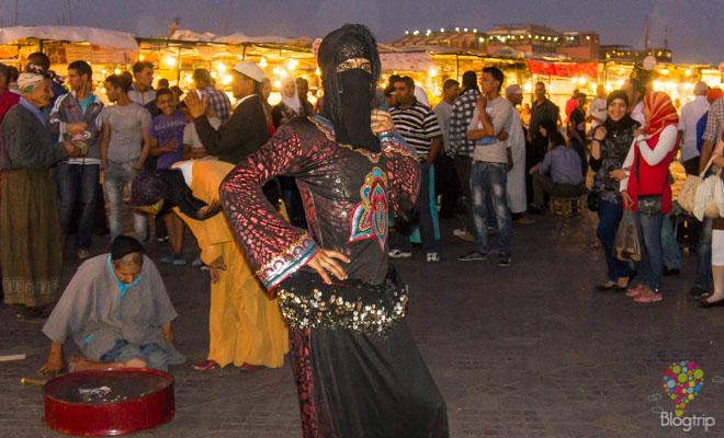 Bailarinas árabes - plaza Djema el Fna Marrakech