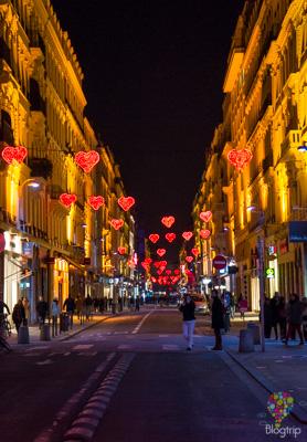 Calles de Lyon durante la fiesta de la luz