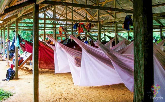 Campamento donde dormir en ciudad perdida Colombia