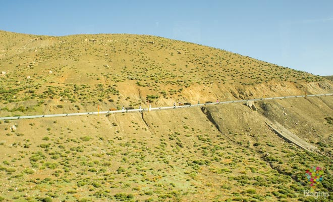 Carretera en las montañas del gran Atlas Marruecos
