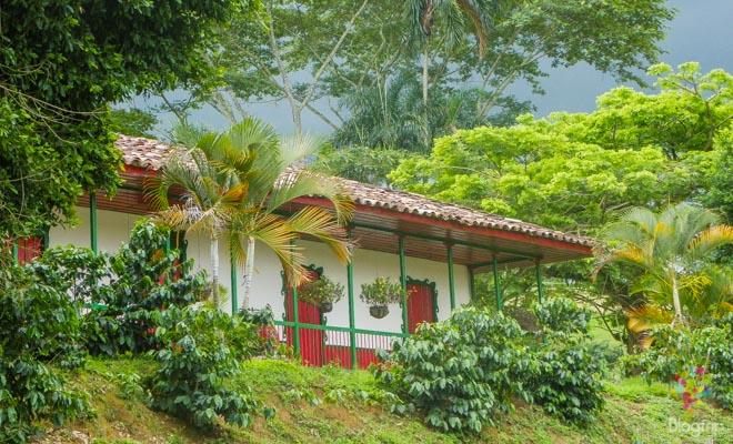 Casa finca cafetera en el eje cafetero de Colombia