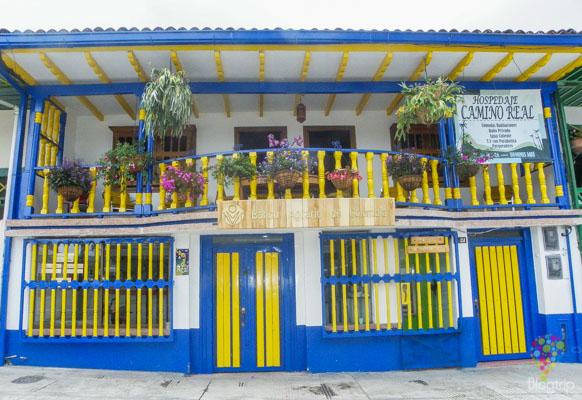 Casas típicas de eje cafetero en Colombia