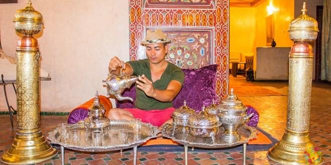 Ceremonia del té a la menta, Palacio en Ouarzazate Marruecos