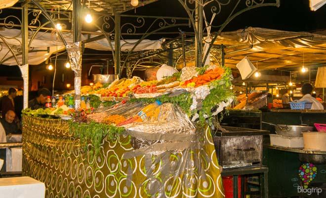Comida y gastronomía en las calles de Marrakech