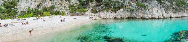 En-veau playa en los Calanques Cassis Francia