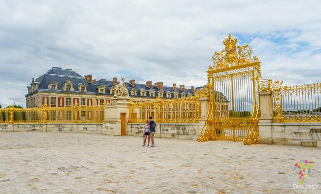 Entrada y visita del palacio de versalles Francia