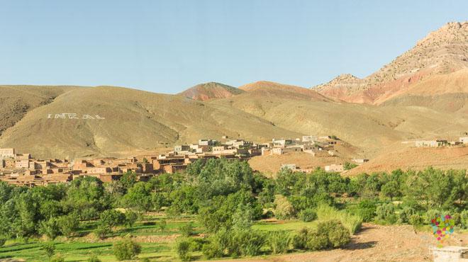 Fotografía del paisaje del Atlas, Ouarzazate Marruecos