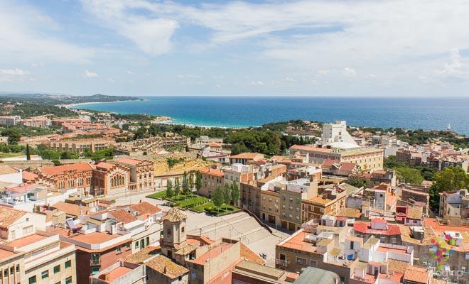 Fotografía panorámica ciudad de Tarragona