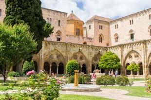 Jardines del claustro de la catedral de Santa Tecla