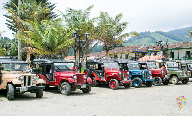 Jeep willys en Salento, eje cafetero de Colombia