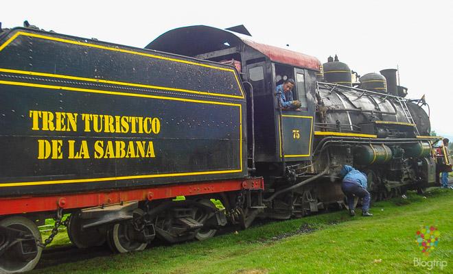 locomotora a vapor del tren de la sabana, Bogotá-Zipaquirá