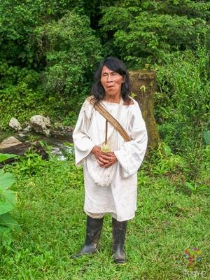 Mamo o chamán Tayrona (kogui) en Colombia