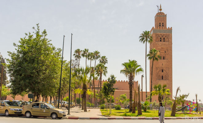 Minarete koutoubia en Marrakech Marruecos