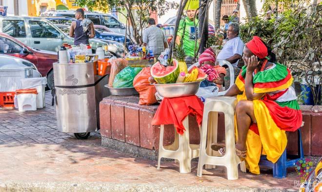 Mujer afrocolombiana en Cartagena Colombia