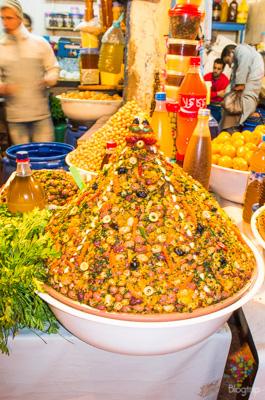 Olivas preparadas en Marruecos