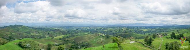 Panorámica de la región cafetera en Colombia