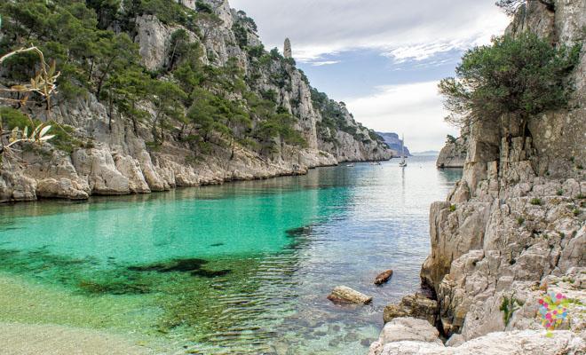 Playa parque los Calanques en Cassis Francia