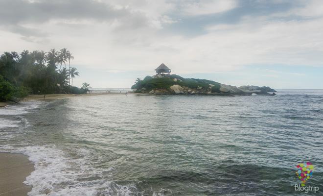 Playa en el parque Tayrona Santa Marta