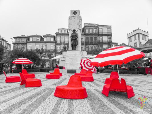 Plaza Carlos Alberto en Oporto Portugal
