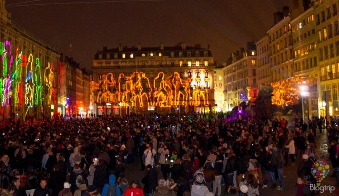 Plaza des terreaux en Lyon, la ciudad luz
