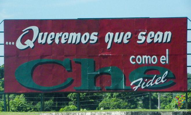 Publicidad del régimen cubano en Santa Clara Cuba
