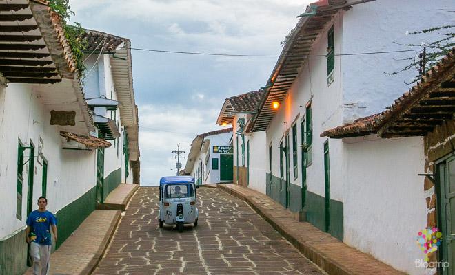 Pueblo colonial de Barichara en Santander Colombia