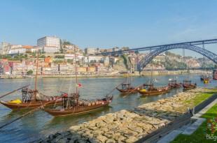 Puente María Pía sobre el río Duero Oporto Portugal