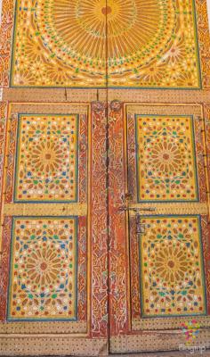 Puerta de arquitectura árabe, Ouarzazate Marruecos