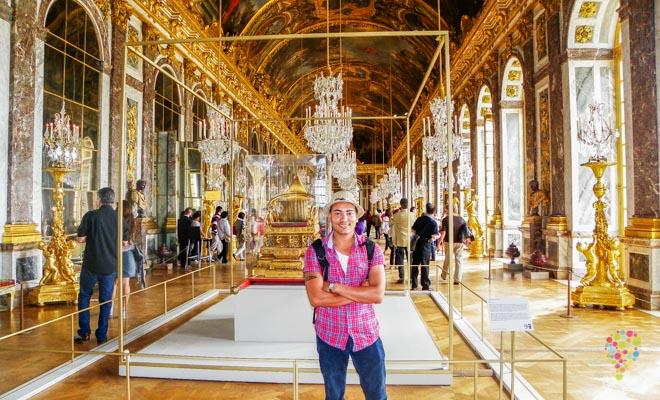 Sala de los espejos en el palacio de Versalles