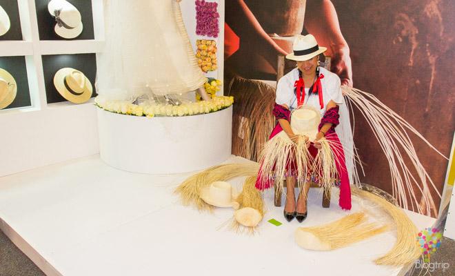 Tejidos en paja y sombreros del Ecuador