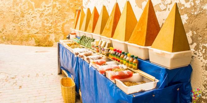 Viaje a Essaouira, especias de Marruecos