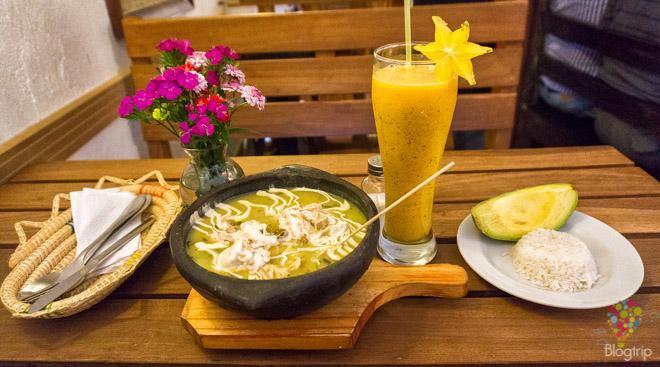 Receta de ajiaco plato de la comida colombiana