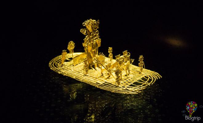 Balsa Muisca en el museo del oro Bogotá Colombia