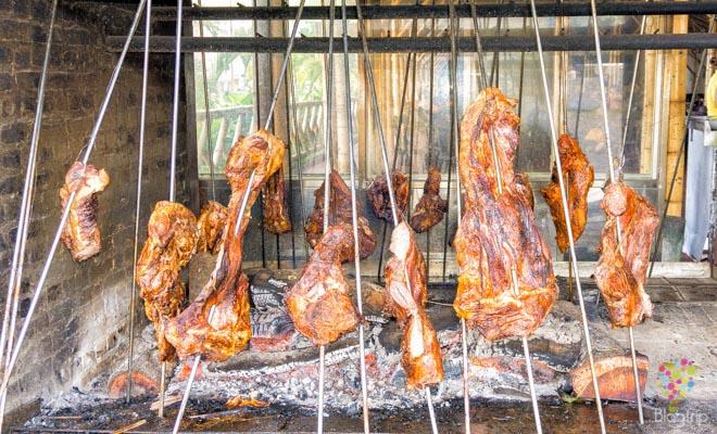 Carne a la llanera o mamona de los llanos orientales