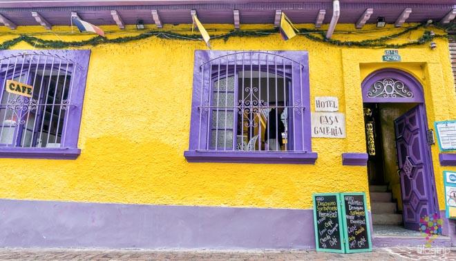 Casa galería, hotel en el barrio Candelaria en Bogotá
