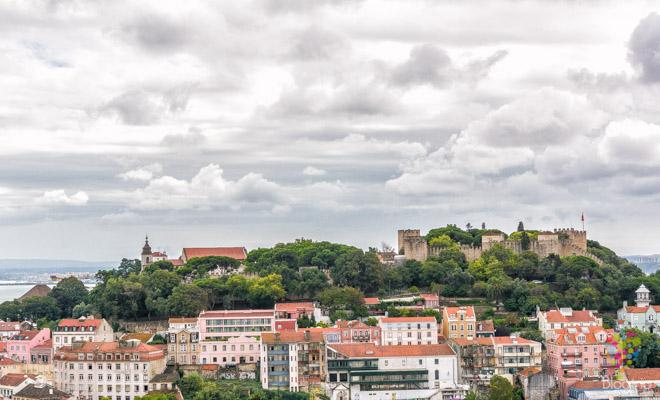 Castillo de San Jorge en Lisboa Portugal