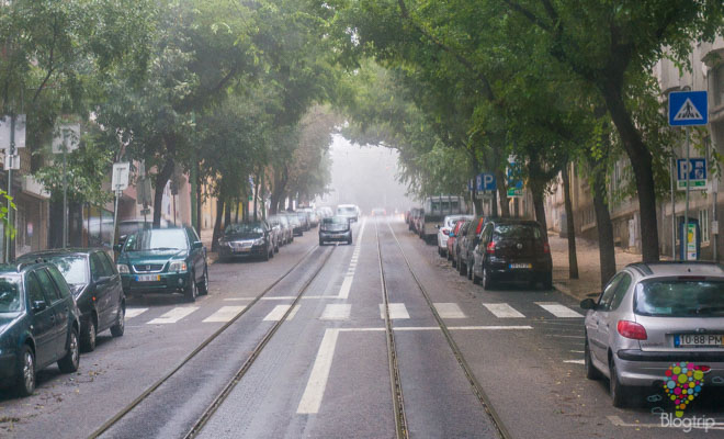 Circuito y recorrido del tranvía 28 en Lisboa