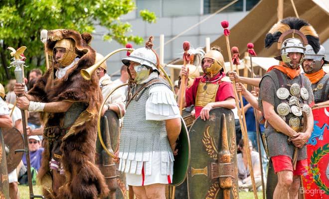 Ejercito de gladiadores galo-romanos Vienne Francia