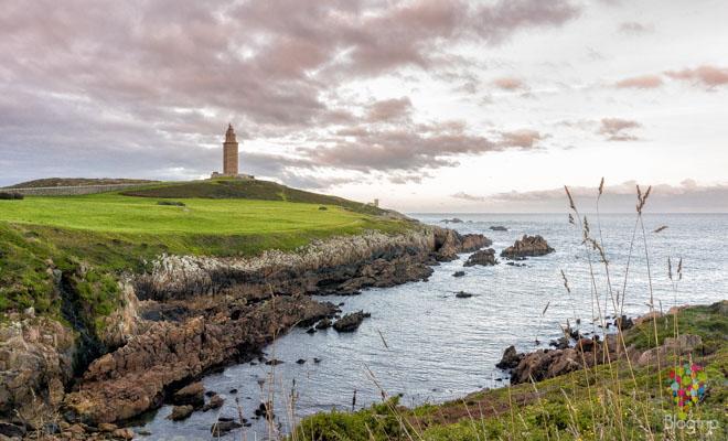 Faro o torre de Hércules A Coruña España