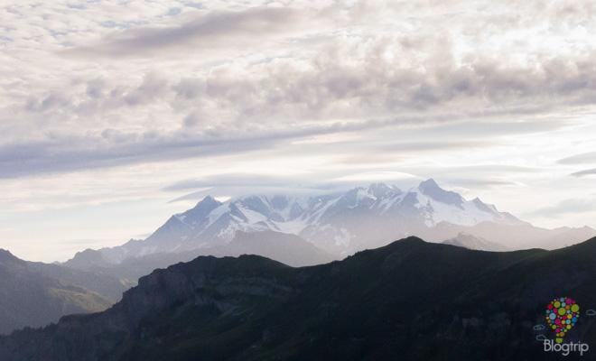 Fotografía montaña de Mont Blanc en Francia