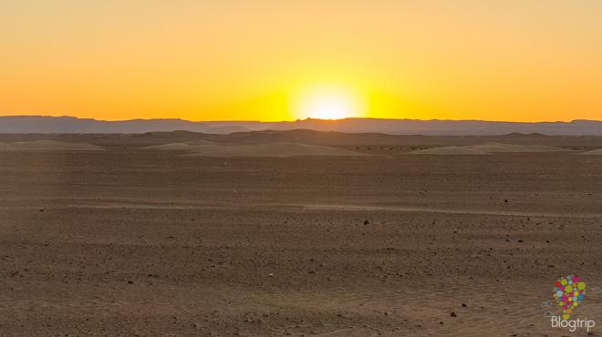 Fotografía del paisaje del desierto en Marruecos