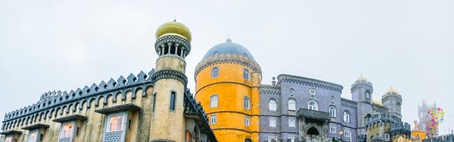 Fotografía panorámica palacio da Pena Sintra Portugal