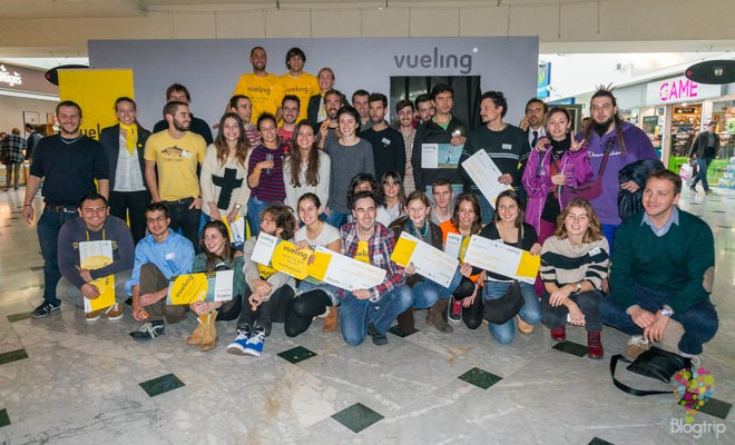 Ganadores de la gymkhana de Vueling en Barcelona