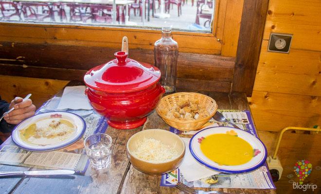 Gastronomía de montaña: sopa de queso beaufort