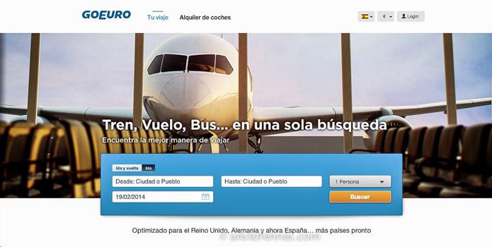 GoEuro motor de búsqueda - Blogtrip viajes