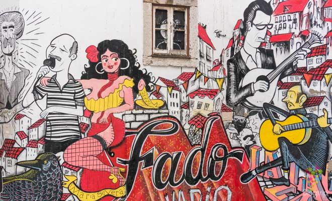 Grafitti en la calle de Lisboa - María Severa