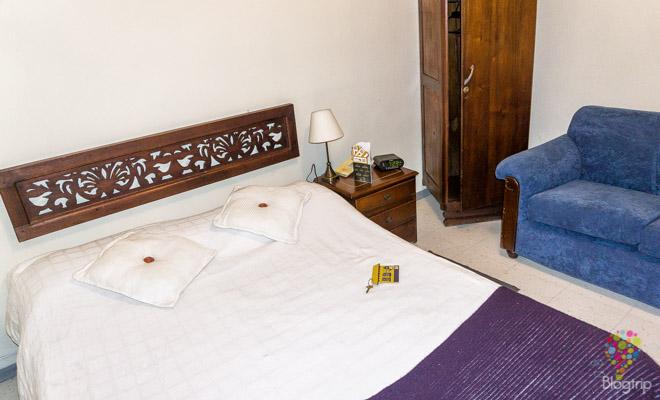 Habitación del hotel Casa galería en Bogotá