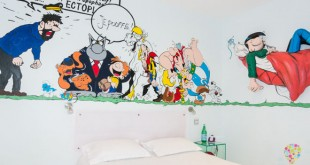 Habitación tema dibujos animados - hotel Ideal séjour Cannes