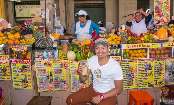 Jugos naturales de frutas en Perú -Viajes de Aristofennes