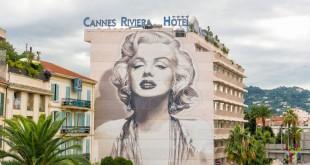 Marilyn Monroe - graffiti o pintura de muro en Cannes Francia